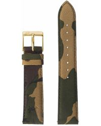 Larsson & Jennings - 18mm Green Camouflage/gold - Lyst