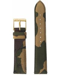 Larsson & Jennings - 20mm Green Camouflage/gold - Lyst