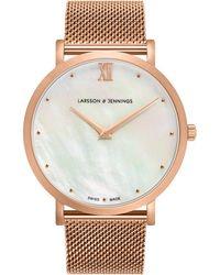 Larsson & Jennings - Lugano Bernadotte Milanese 40mm - Lyst