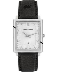 Larsson & Jennings - Sloan Diamond Leather 40mm Silver White - Lyst