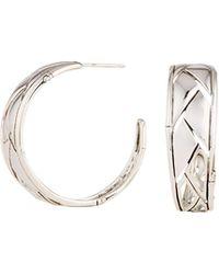 John Hardy - Silver Bamboo Shoot Hoop Earrings - Lyst