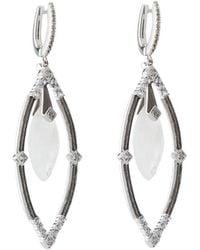 Jude Frances | Encore Sterling Silver Moonstone Dangle/drop Earrings | Lyst