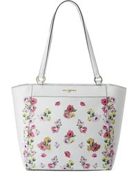 Karl Lagerfeld - Willow Printed Leather Tote Bag - Lyst