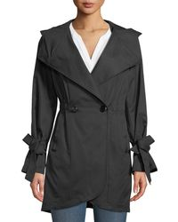 French Connection - Tie-sleeve Tulip Hem Trench Coat - Lyst