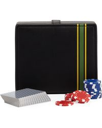 Neiman Marcus - Striped Faux-leather Travel Poker Set - Lyst