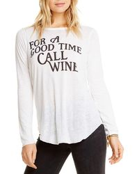 Chaser - Wine Long-sleeve Graphic Tee - Lyst