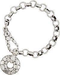 John Hardy - Kali Silver Pebble-motif Link Bracelet - Lyst