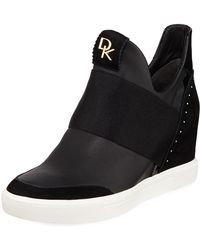 Donna Karan - Cailin Wedge High-top Sneakers - Lyst