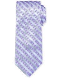 Ike Behar - Men's Cabana Stripe Silk Tie - Lyst