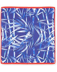 Bugatchi - Bamboo-print Silk Pocket Square - Lyst