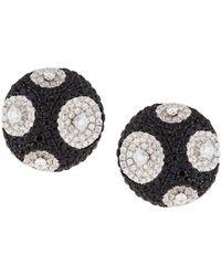 Roberto Coin | 18k Meteorite Diamond & Sapphire Stud Earrings | Lyst