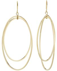 Kenneth Jay Lane - Double Open Oval Fishhook Earrings - Lyst