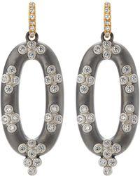 Freida Rothman - Open Oval Cubic Zirconia Clover Drop Earrings - Lyst