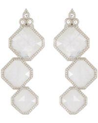 Jude Frances | Encore Sterling Silver Moonstone 3-stone Earrings | Lyst