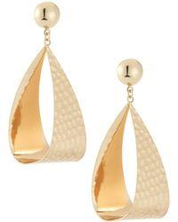 Kenneth Jay Lane - Open Oval Drop Earrings - Lyst