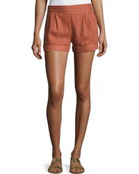 Bishop + Young - Smocked-waist Woven Shorts - Lyst