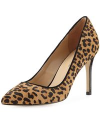 Neiman Marcus - Jane Calf Hair Pointed Pumps - Lyst