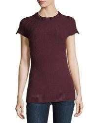 Metric Knits - Cap-sleeve Ottoman-yoke Sweater - Lyst