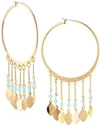 Lydell NYC - Multi-drop Hoop Earrings - Lyst