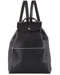 d064a711e3c84 Longchamp - Veau Foulonne Leather Backpack - Lyst