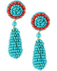 Nakamol - Turquoise Beaded Circle & Teardrop Earrings - Lyst