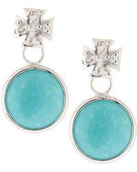 Elizabeth Showers - Maltese Cross & Turquoise Dangle & Drop Earrings - Lyst