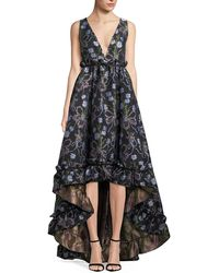 Zac Posen - Judith Floral-jacquard Fit-&-flare Gown - Lyst