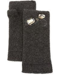 Portolano - Cashmere-blend Embellished Arm Warmers - Lyst