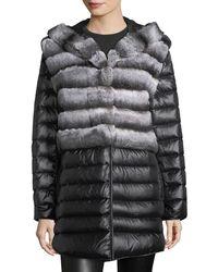 Gorski - Rabbit Fur Stroller Coat W/ Removable Down Skirt & Sleeves - Lyst