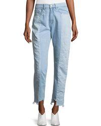 Etienne Marcel - Reily Two-tone Light-wash Straight-leg Jeans - Lyst