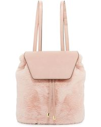 Neiman Marcus - Megan Faux-fur Backpack - Lyst