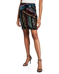 b35ef2ad31 Urban Outfitters Uo Rainbow Sequin Mini Skirt - Lyst