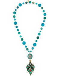 Devon Leigh - Turquoise Mosaic Pendant Necklace - Lyst