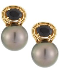 Belpearl - 18k Agate & Pearl Drop Earrings - Lyst