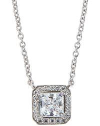 Fantasia by Deserio - Cz Princess-cut Pendant Necklace - Lyst