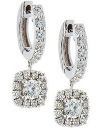 Neiman Marcus - 18k White Gold Diamond Dangle Drop Earrings - Lyst