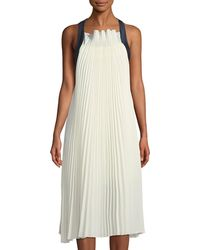 Haute Rogue - Sienna Pleated Ribbon-strap Trapeze Dress - Lyst