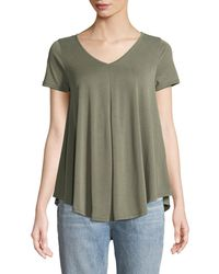 Casual Couture - V-neck Draped Tee - Lyst