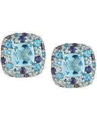 John Hardy - Batu Klasik Mixed-gem Button Earrings - Lyst