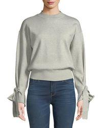 Tularosa - Suzanne Tie Bell-sleeve Crop Sweater - Lyst