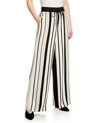 Lafayette 148 New York Allen Legacy Striped Drape Cloth Pants