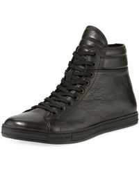 Kenneth Cole - Men's Brand Leather High Top Sneakers - Lyst