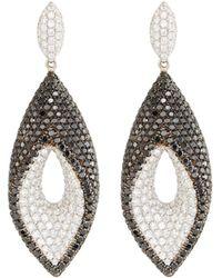 Roberto Coin - 18k White Gold Fantasia Two-tone Diamond Earrings - Lyst