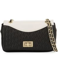 Karl Lagerfeld | Agyness Quilted Colorblock Shoulder Bag | Lyst