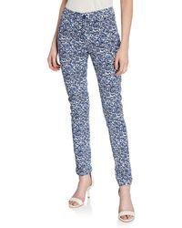 Neiman Marcus - Slim Fit Floral-print Jeans - Lyst