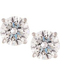 Neiman Marcus - 18k White Gold Round Diamond Solitaire Stud Earrings 1.0tcw - Lyst