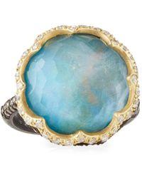 Armenta - Old World Scalloped Triplet & Diamond Ring Size 6.5 - Lyst