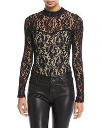 Love, Fire - Long-sleeve Lace Bodysuit - Lyst