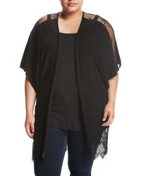 Zero Degrees Celsius - Lace-inset Dolman-sleeve Cardigan - Lyst