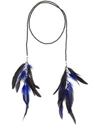 Nakamol - Crystal Lariat Feather Necklace - Lyst